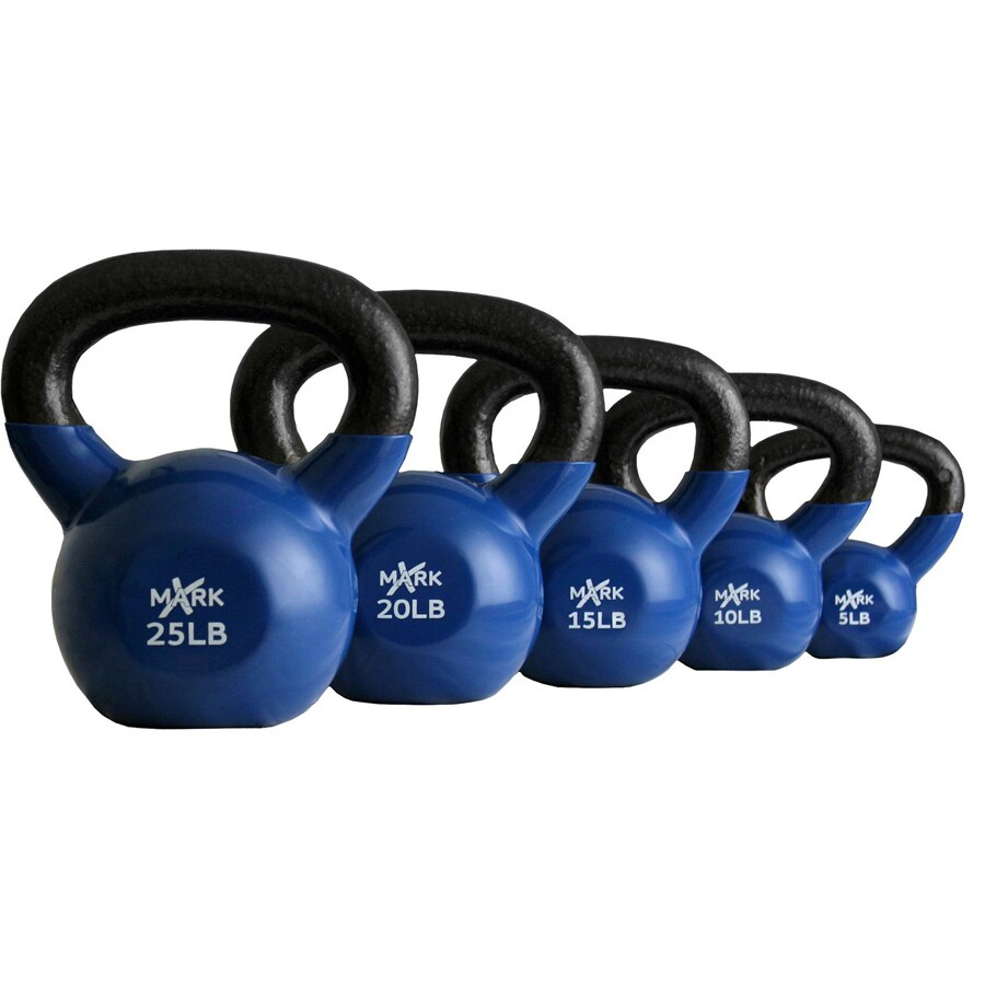 Xmark Fitness Multicolor 75 lbs Fixed-Weight Kettlebell