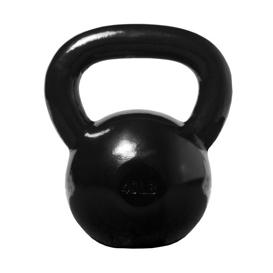 Xmark Fitness Black 40 lbs Fixed-Weight Kettlebell