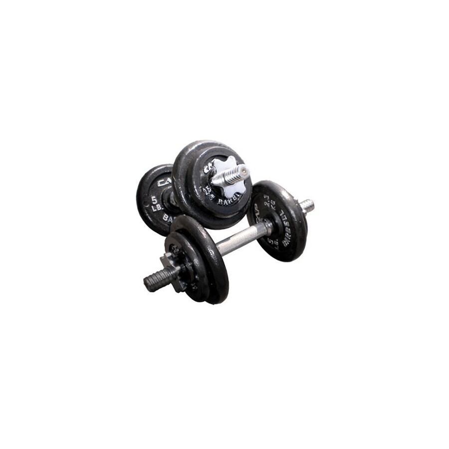 CAP Set of 8 (5 to 15 lbs) Black Adjustable Weight Dumbbells