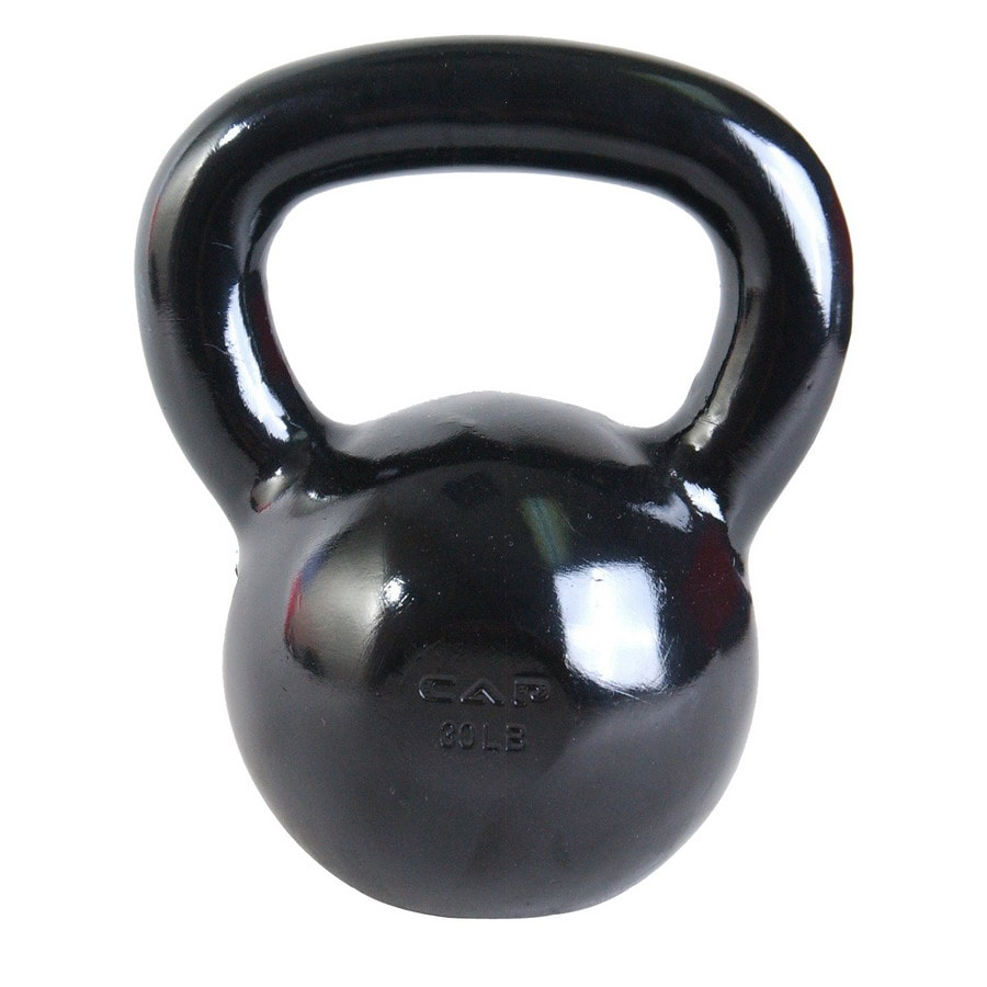 CAP Black 30 lbs Fixed-Weight Kettlebell