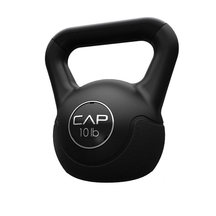 CAP Black 10 lbs Fixed-Weight Kettlebell