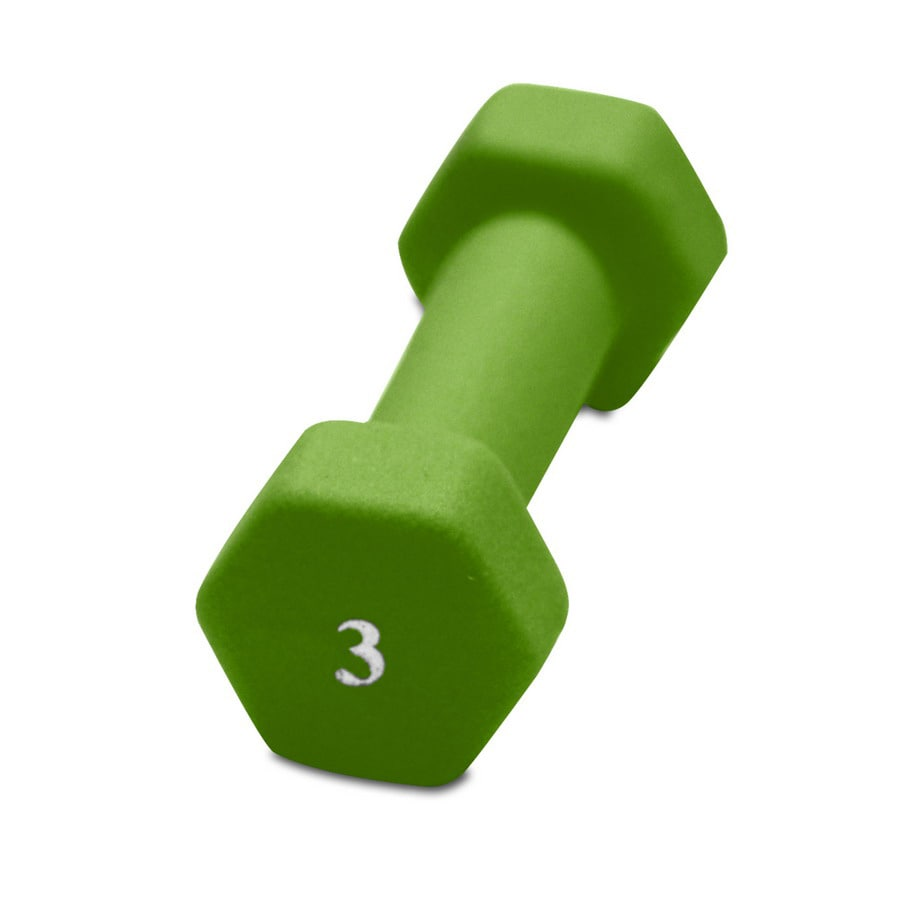 CAP 3-lb Green Fixed-Weight Dumbbell