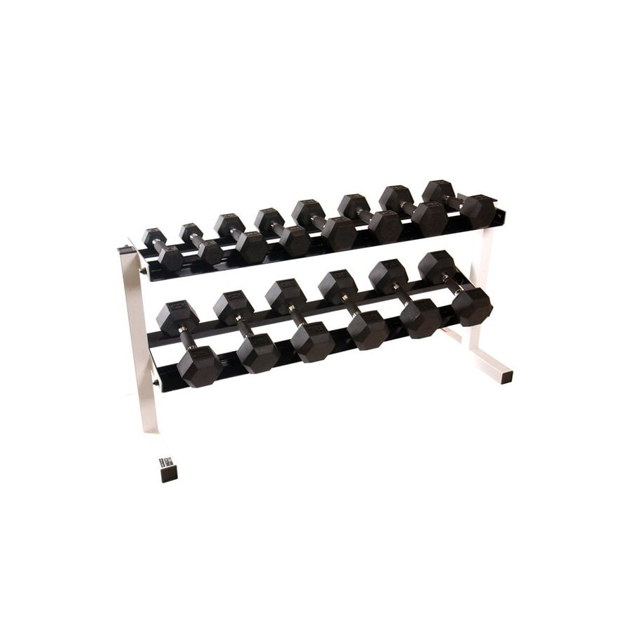 CAP Set of 20 (5 to 50 lbs) Black Fixed-Weight Dumbbells