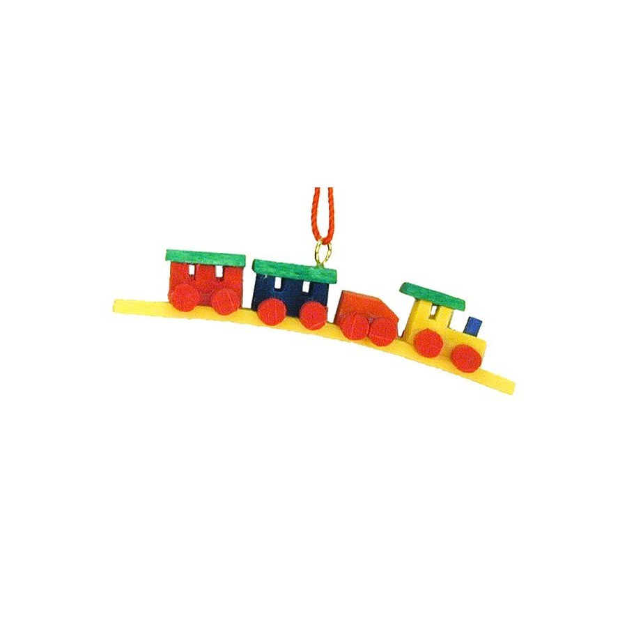 Alexander Taron Multicolor Mini Train Ornament