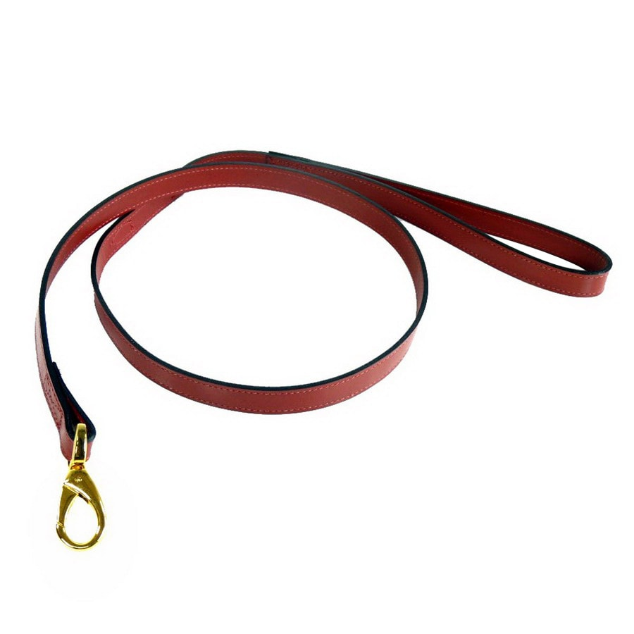 Hartman & Rose Ferrari Red Leather Dog Leash