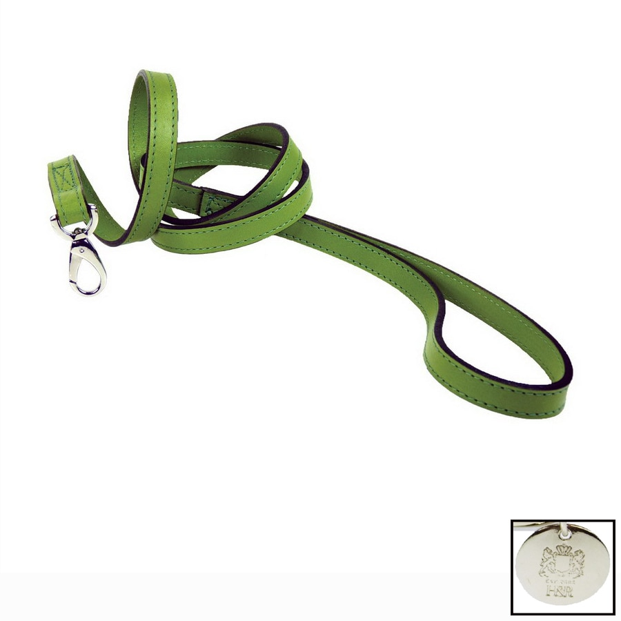 Hartman & Rose Green Leather Dog Leash