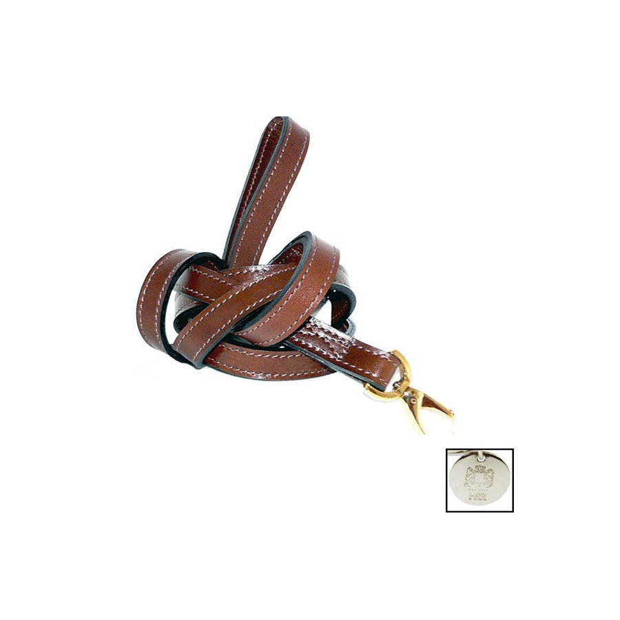 Hartman & Rose Rich Tobacco Leather Dog Leash