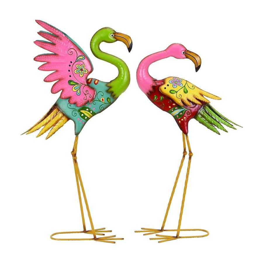 Shop Woodland Imports Flamingos 32 In Animal Garden Statue
