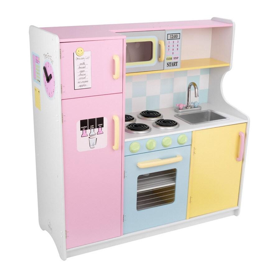 Shop kidkraft large pastel kitchen at for Kitchen set lowes