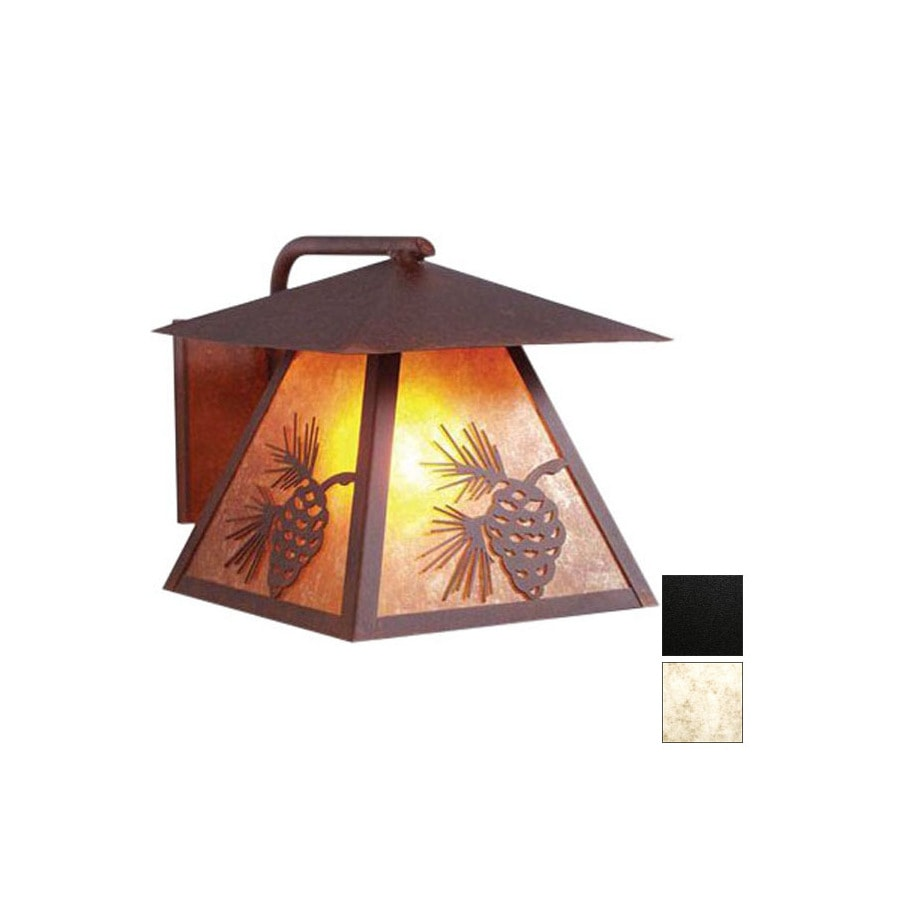Steel Partners Pinecone 9 1 2 In Black Outdoor Wall Light In The Outdoor Wall Lights Department At Lowes Com