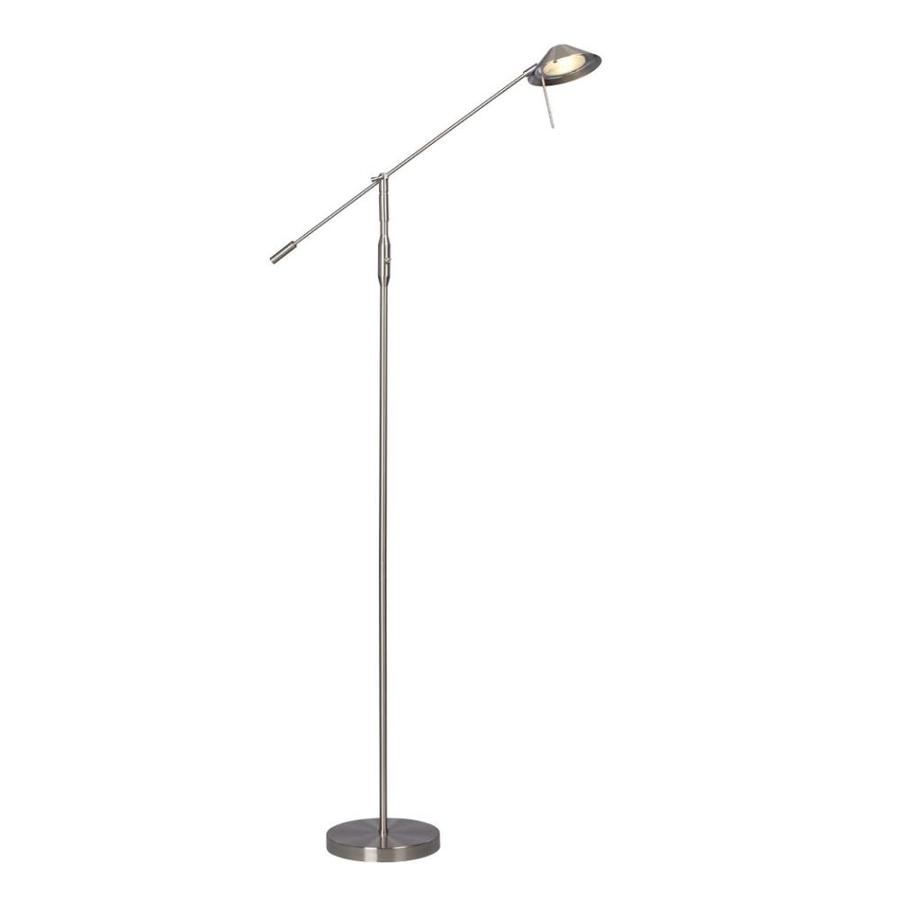 Galaxy 66-in Brushed Nickel Shaded Indoor Floor Lamp with Metal Shade