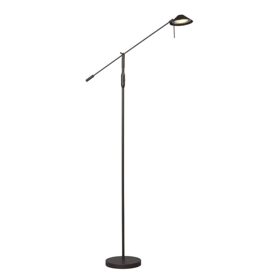 Galaxy 66-in Matte Bronze Swing-Arm Floor Lamp with Metal Shade