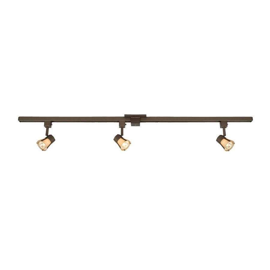 Galaxy 3-Light 48-in Bronze Dimmable Step Linear Track Lighting Kit