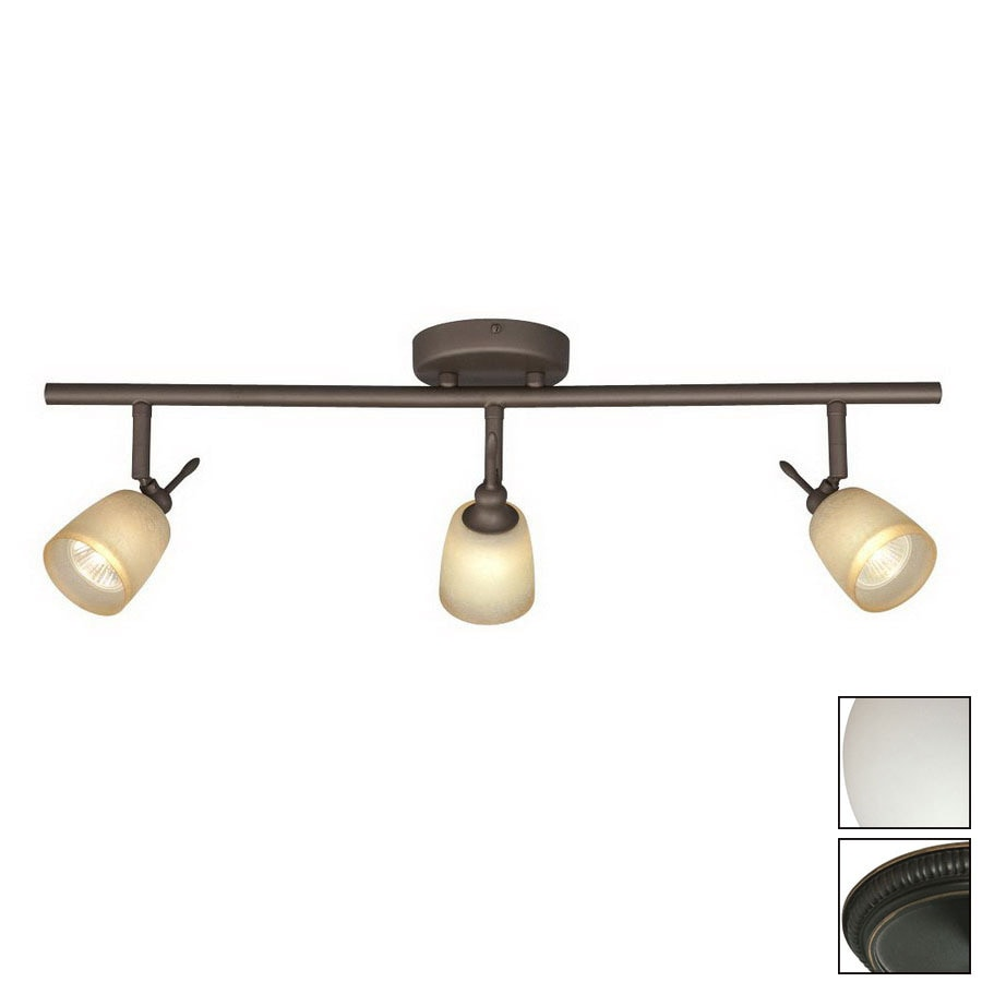 Shop Galaxy Fixed Track 3Light Standard OilRubbed Bronze Glass