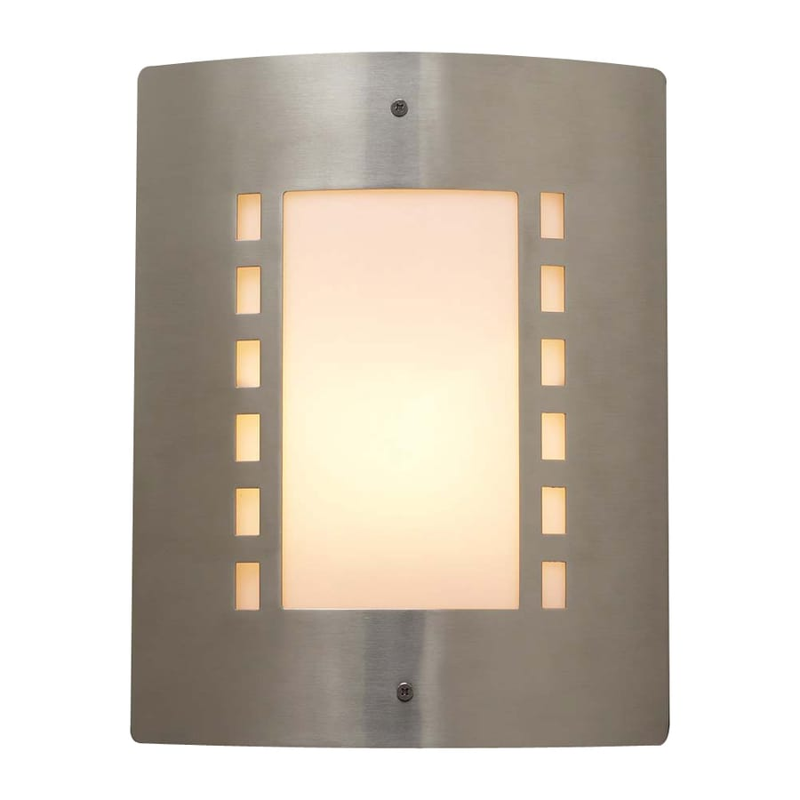 PLC Lighting Paolo 11.75-in H Satin Nickel Outdoor Wall Light
