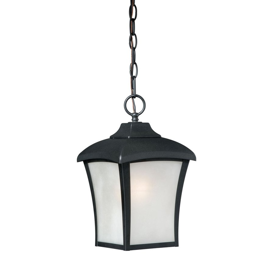 Cascadia Lighting Boardwalk 13.75-in Oil-Rubbed-Bronze Hardwired Outdoor Pendant Light
