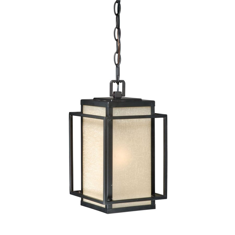Cascadia Lighting Hyde Park 13-in Espresso Bronze Hardwired Outdoor Pendant Light