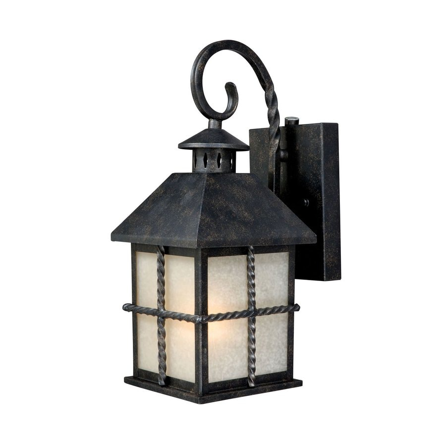 Cascadia Lighting Savannah 14.13-in H Gold Stone Outdoor Wall Light