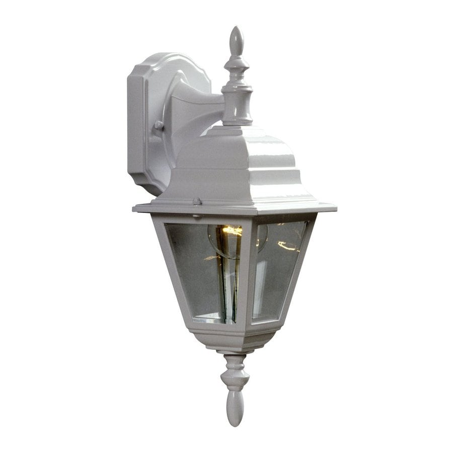 Galaxy 16-in H White Outdoor Wall Light