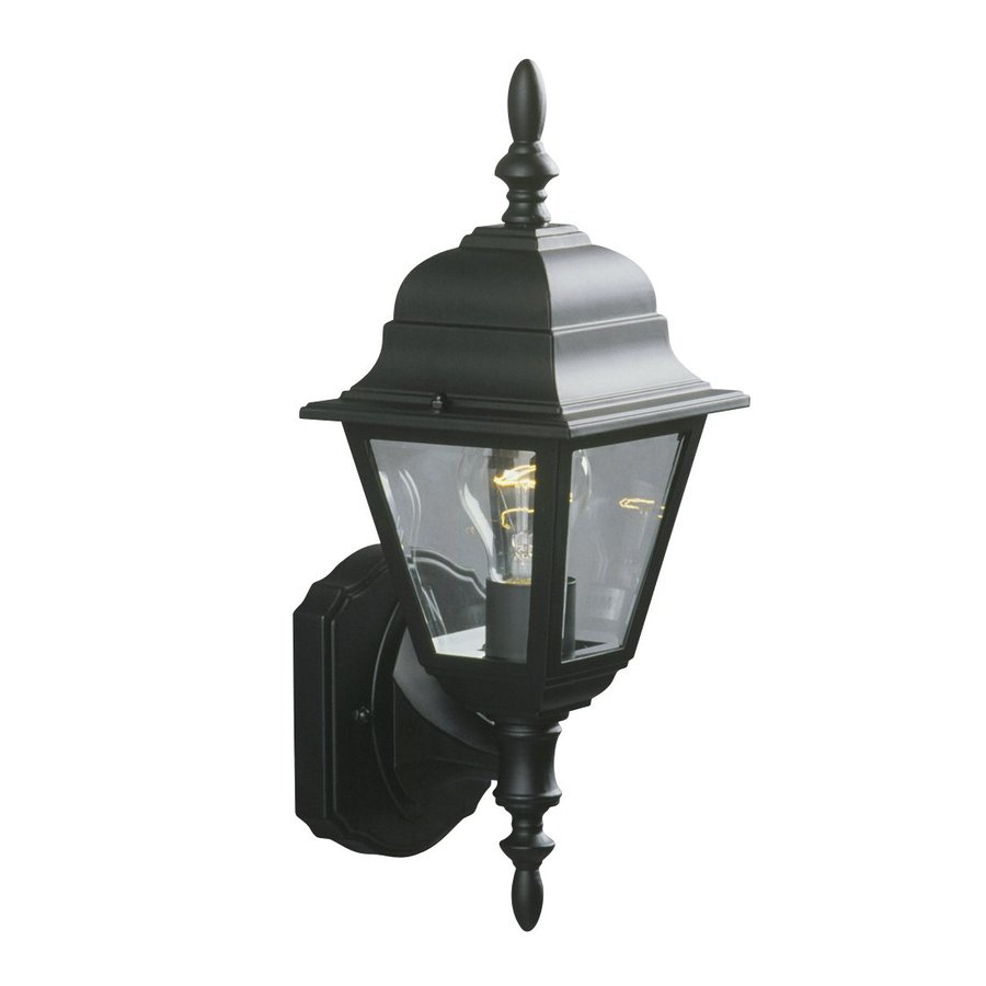 Galaxy 15.375-in H Black Outdoor Wall Light