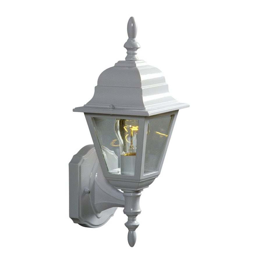 Galaxy 15.375-in H White Outdoor Wall Light