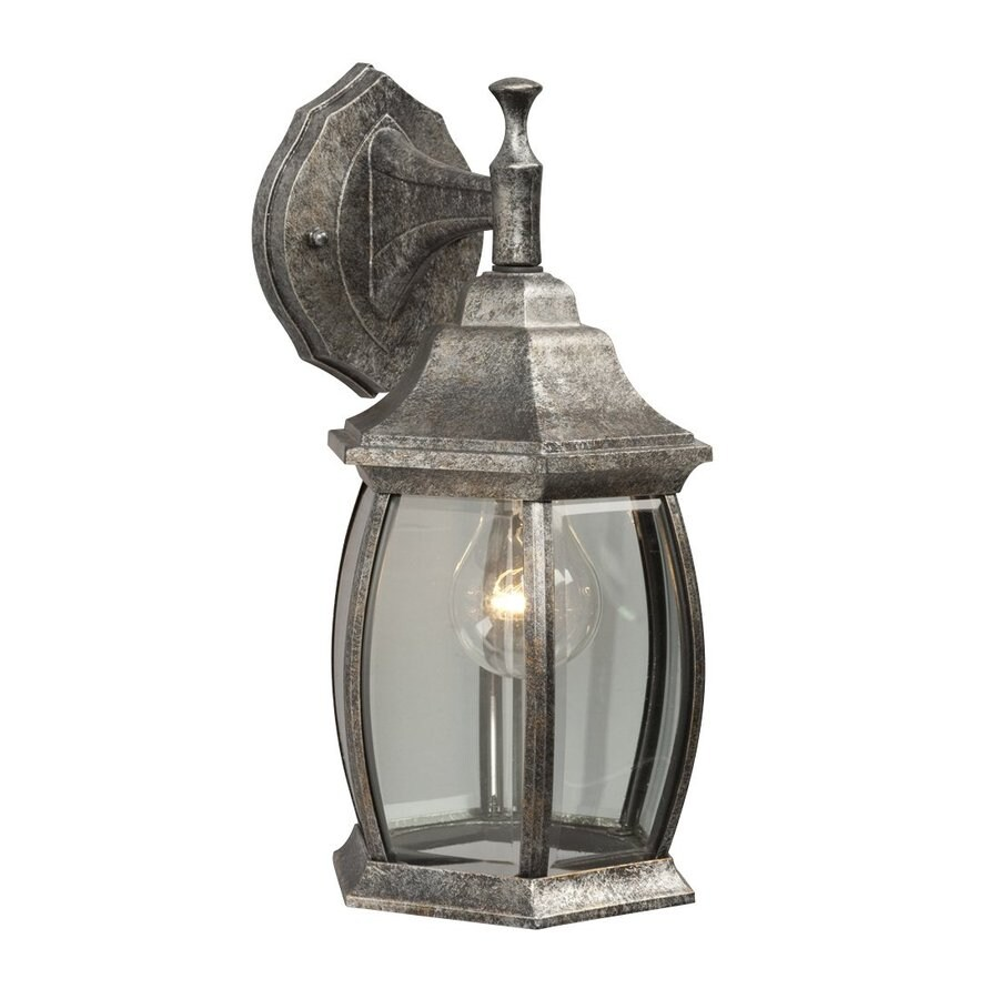 Galaxy 12.5-in H Antique Silver Outdoor Wall Light