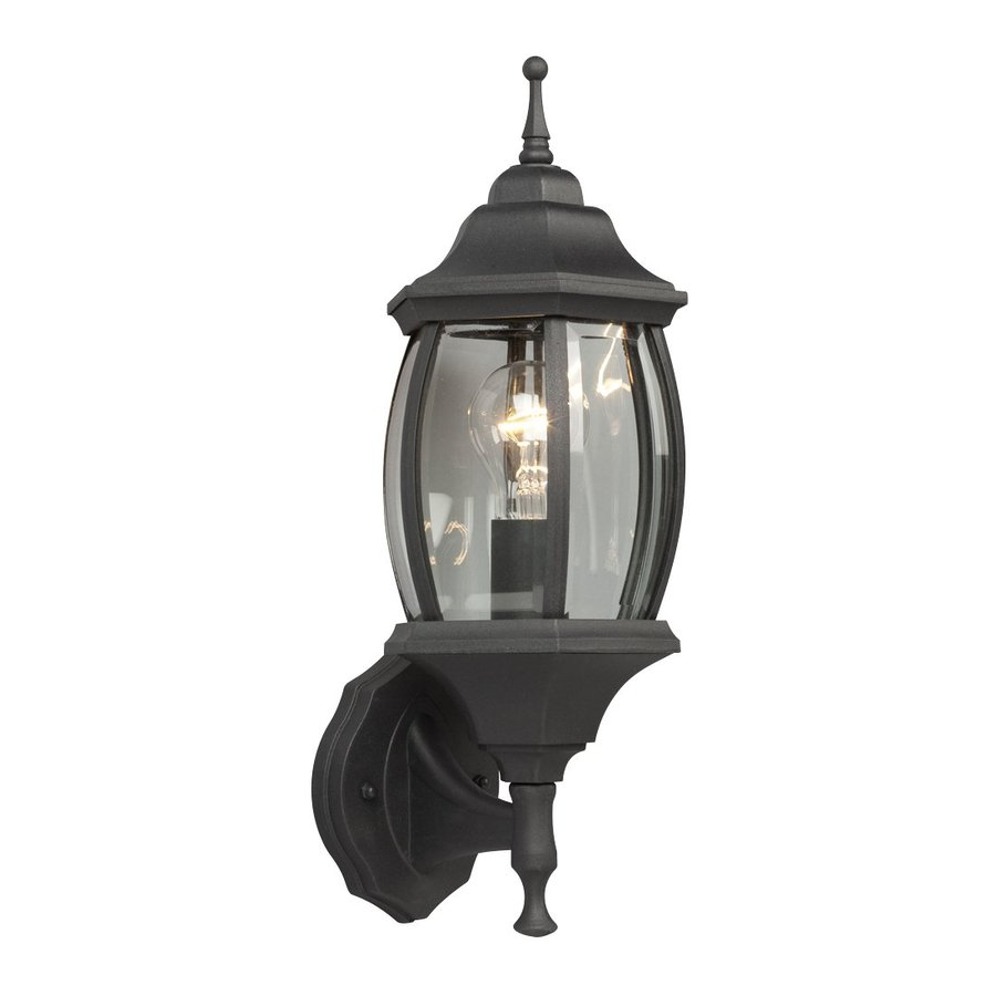 Galaxy 17.5-in H Black Outdoor Wall Light