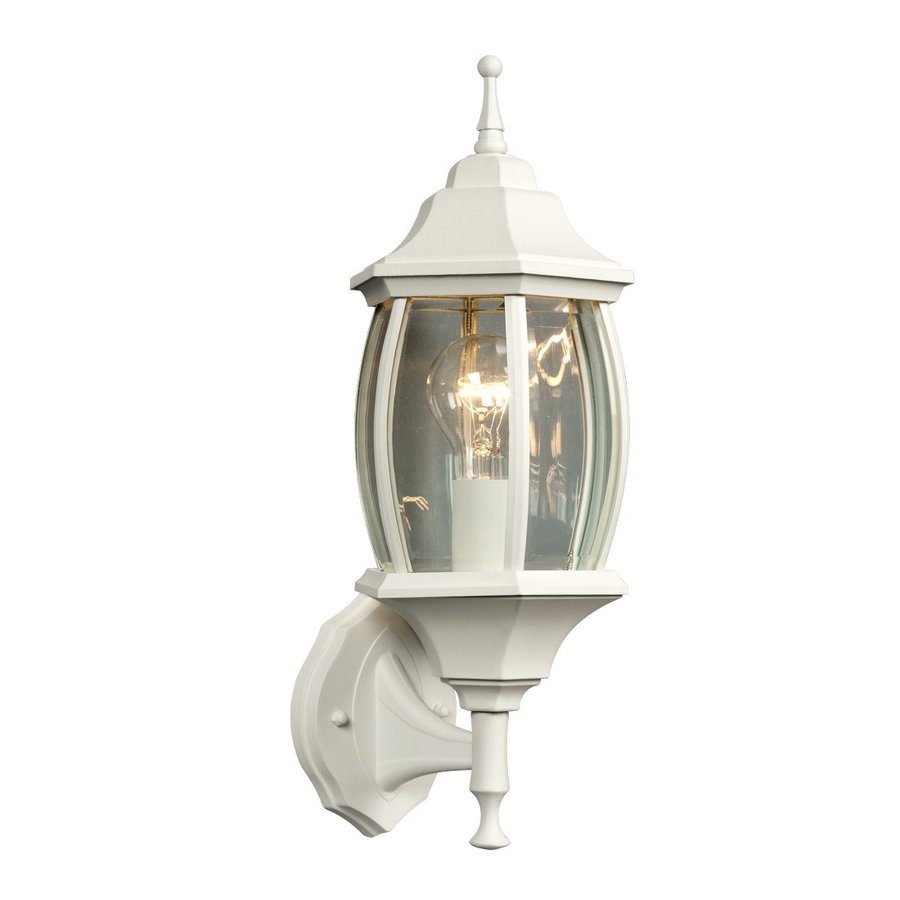 Galaxy 17.5-in H White Outdoor Wall Light