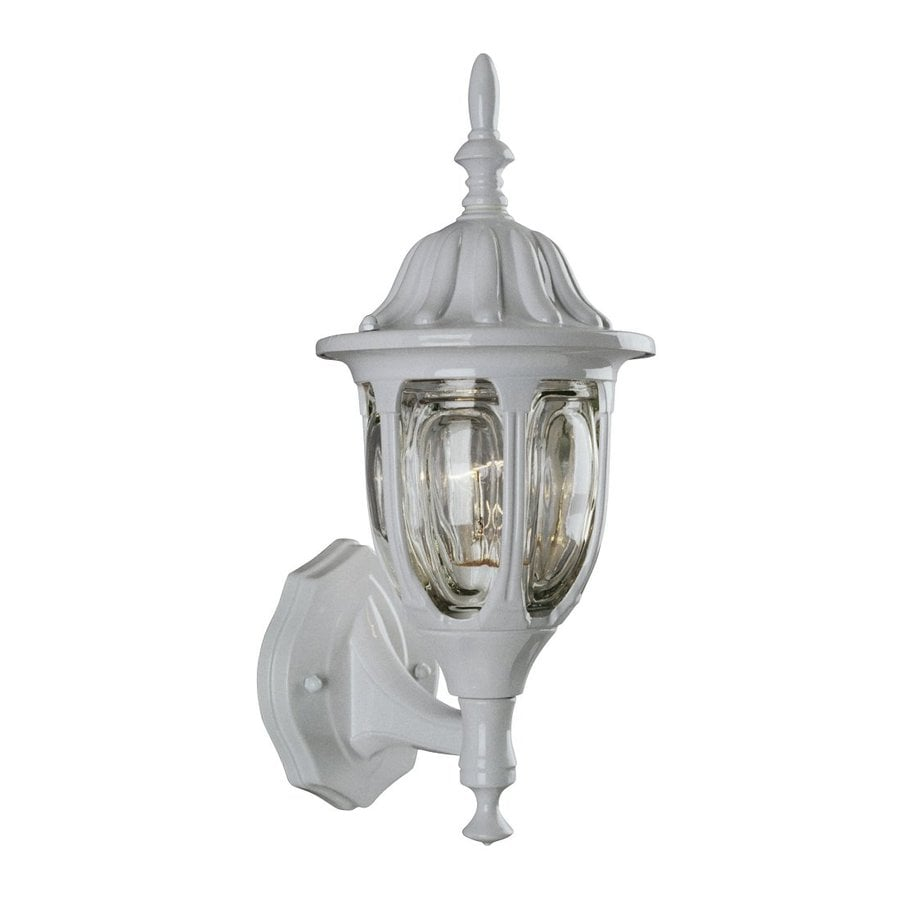 Galaxy 15-in H White Outdoor Wall Light