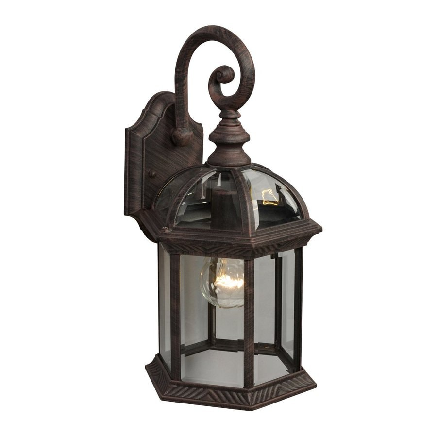Galaxy 15.25-in H Antique Rust Outdoor Wall Light