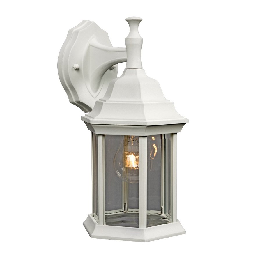Galaxy 11.5-in H White Outdoor Wall Light