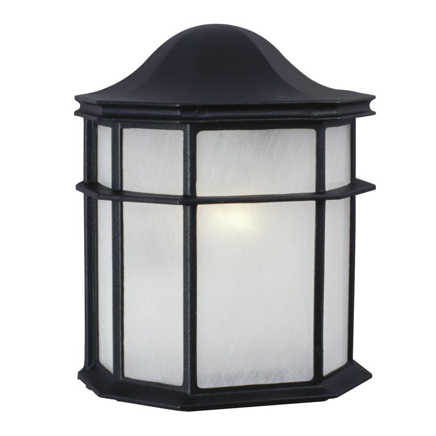 Galaxy 9.875-in H Black Outdoor Wall Light