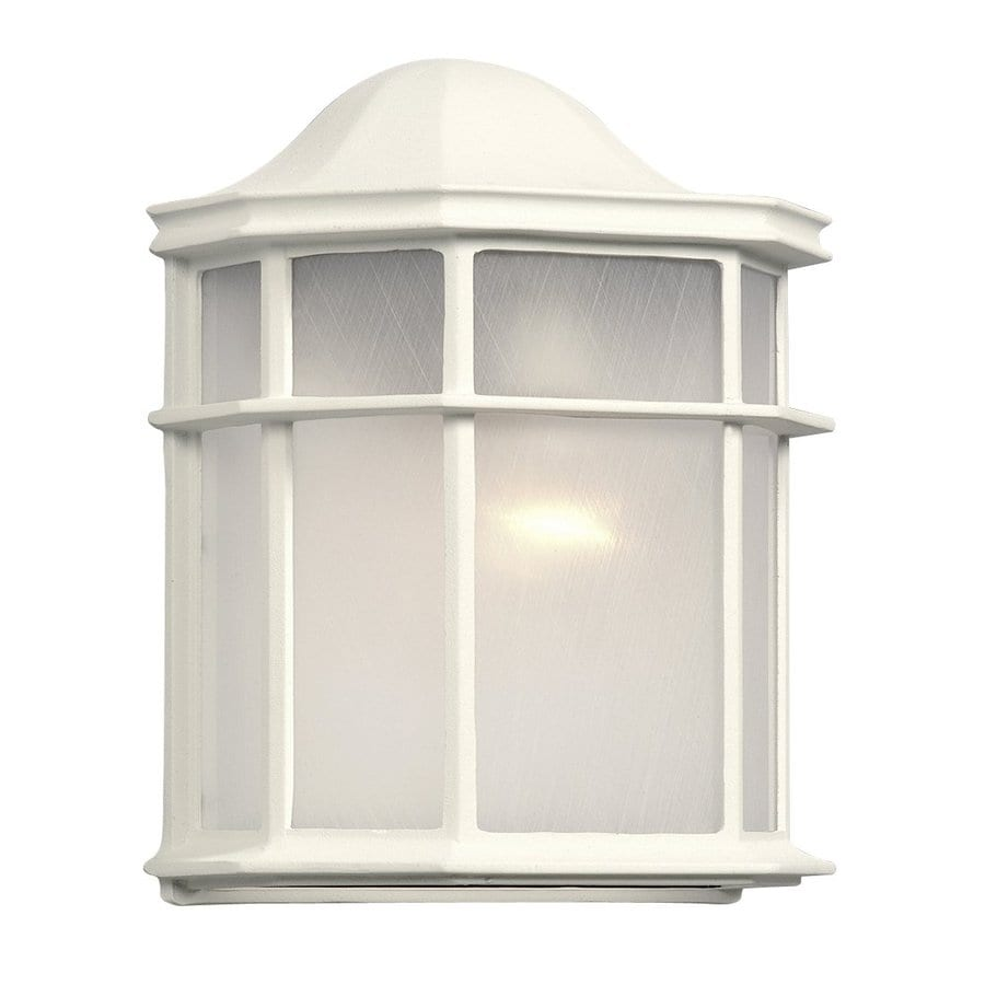 Galaxy 9.875-in H White Outdoor Wall Light