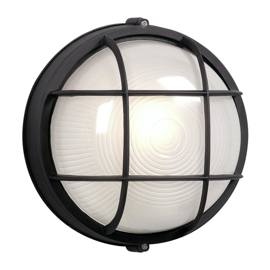 Galaxy Marine 10.25-in H Black  Medium Base (E-26) Outdoor Wall Light