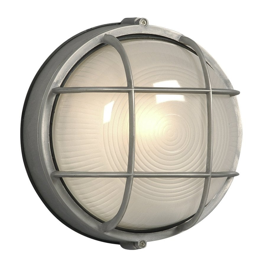 Galaxy Marine 10.25-in H Satin Aluminum Outdoor Wall Light