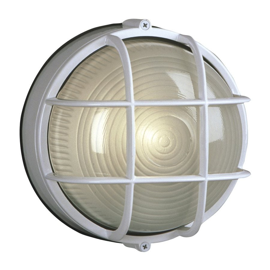 Galaxy Marine 7.125-in H White  Medium Base (E-26) Outdoor Wall Light