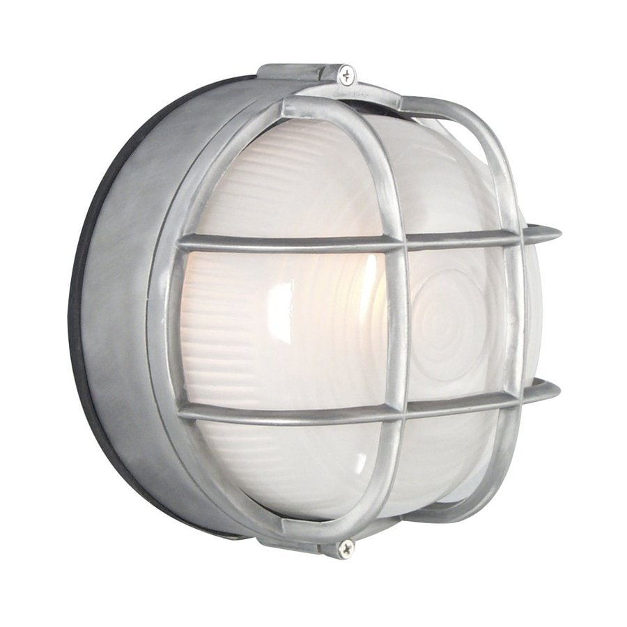 Galaxy Marine 7.125-in H Satin Aluminum  Medium Base (E-26) Outdoor Wall Light