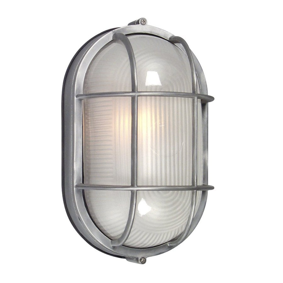 Galaxy Marine 11.125-in H Satin Aluminum  Medium Base (E-26) Outdoor Wall Light