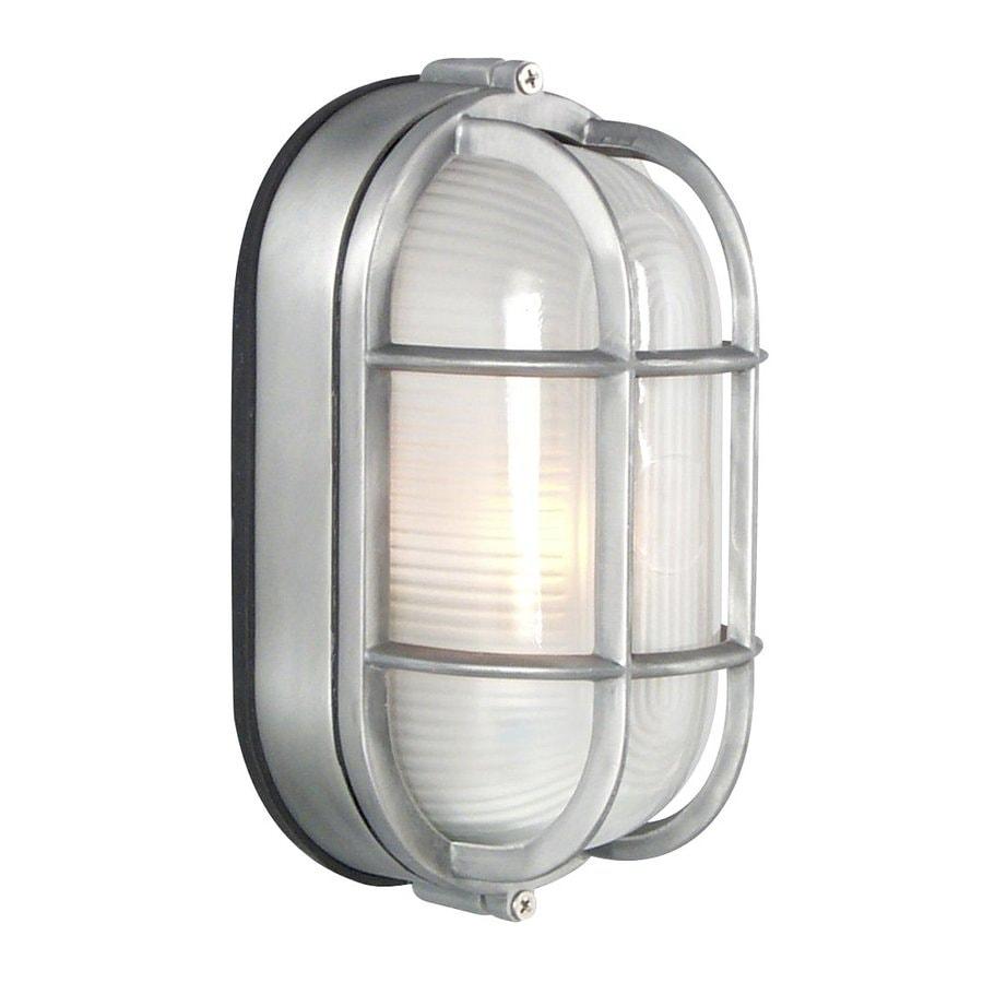 Marine Wall Light: Galaxy Marine 8.375-in H Satin Aluminum Outdoor Wall Light,Lighting