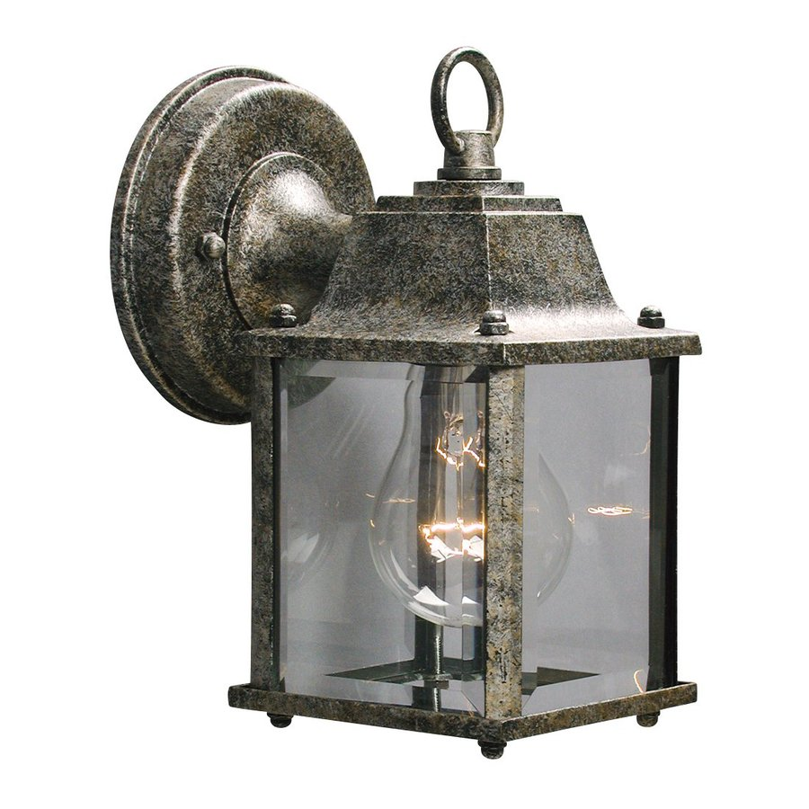 Galaxy 8-in H Antique Silver Outdoor Wall Light
