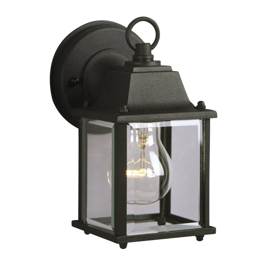 Galaxy 8-in H Black Outdoor Wall Light