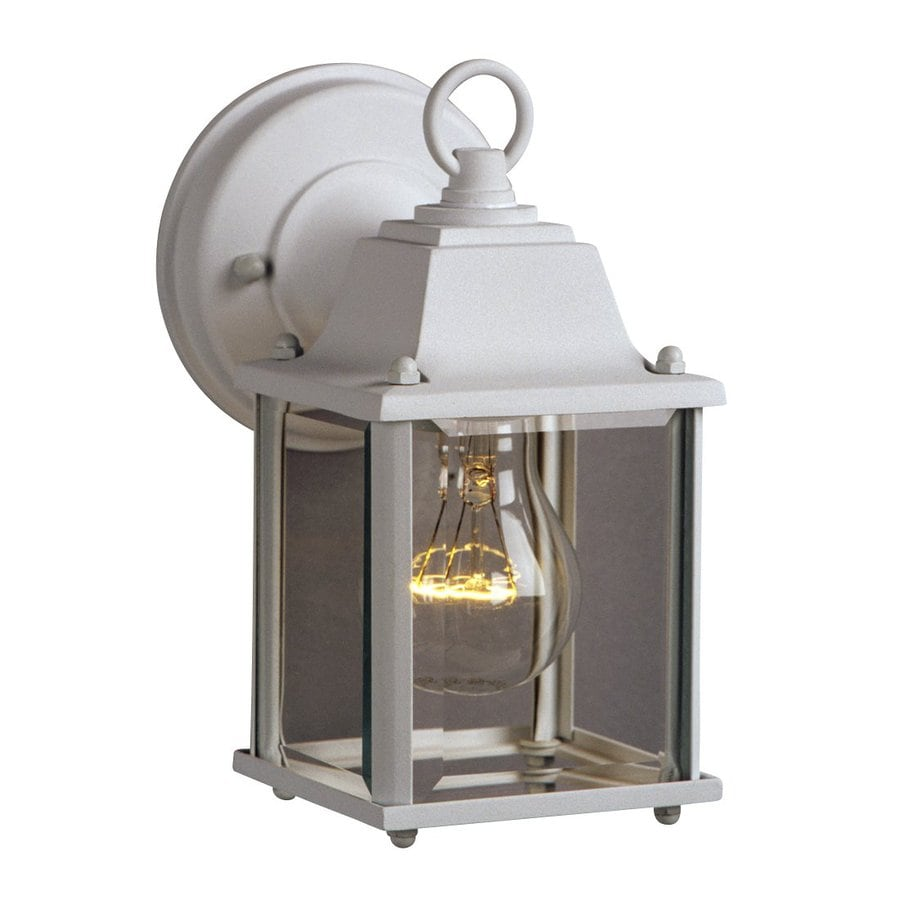 Galaxy 8-in H White Outdoor Wall Light
