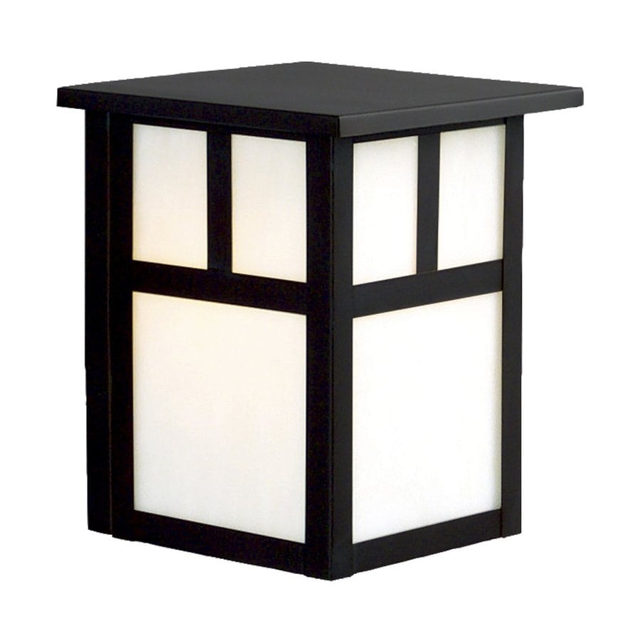 Galaxy 7.5-in H Black Outdoor Wall Light