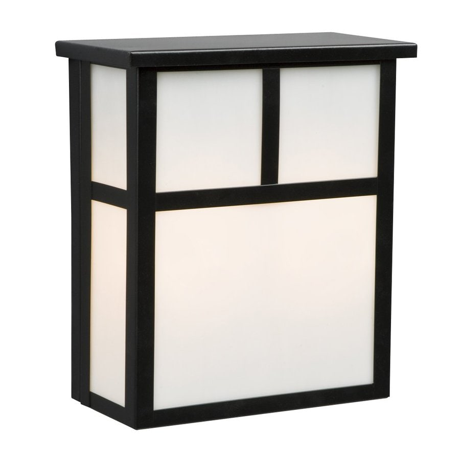 Galaxy 10-in H Black Outdoor Wall Light