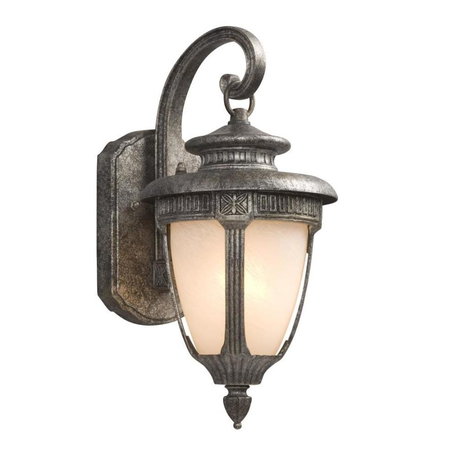 Galaxy 14.5-in H Antique Silver Outdoor Wall Light