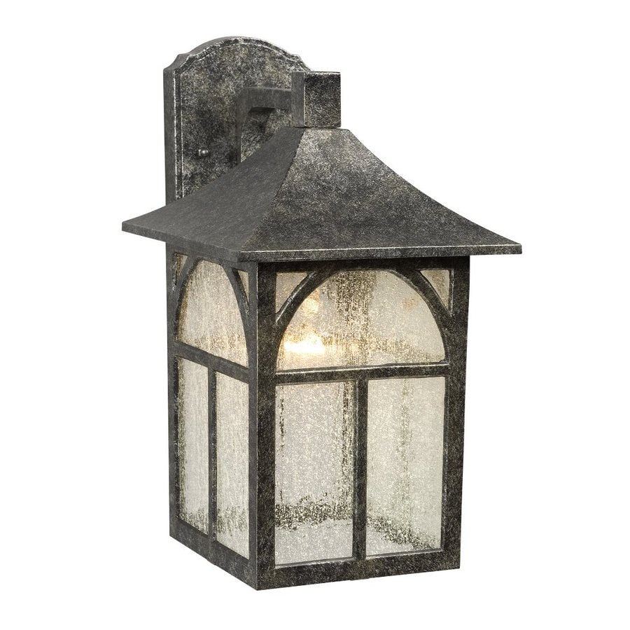 Galaxy 14.25-in H Antique Silver Outdoor Wall Light
