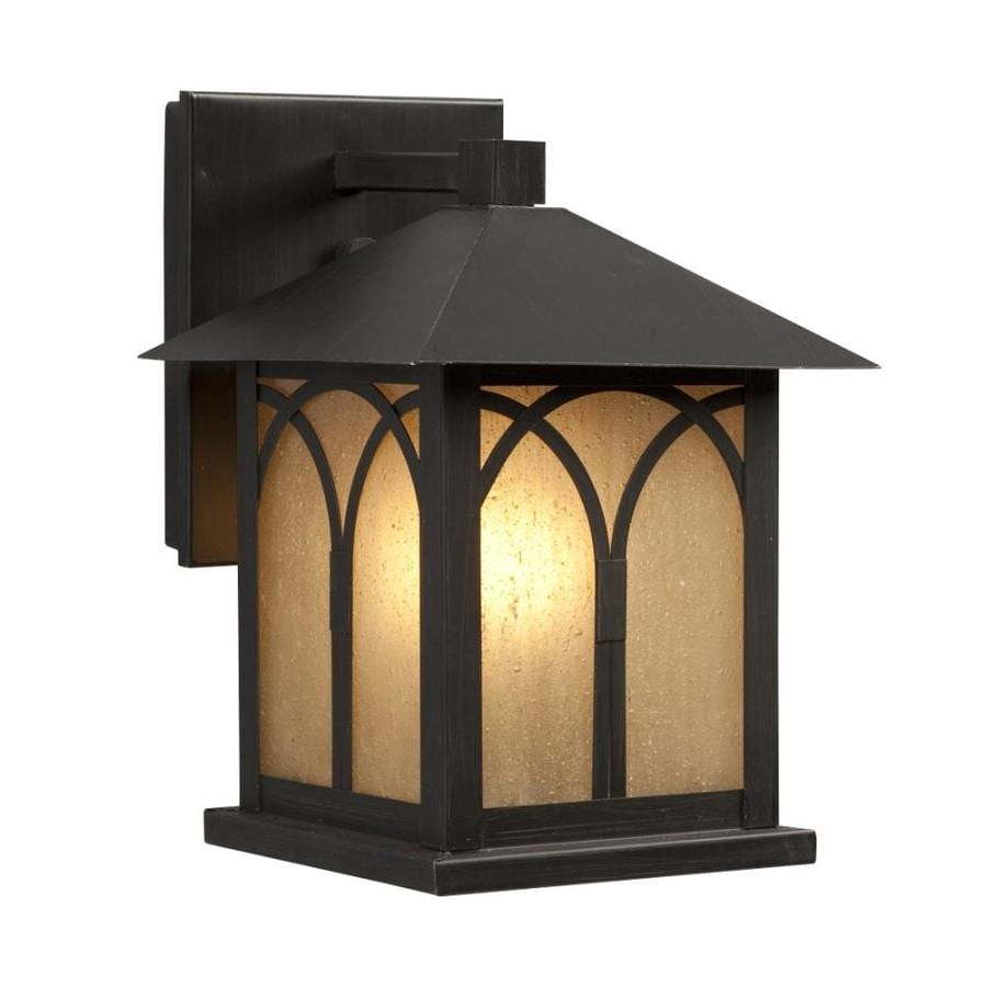 Galaxy 9.375-in H Oil-Rubbed Bronze  Medium Base (E-26) Outdoor Wall Light