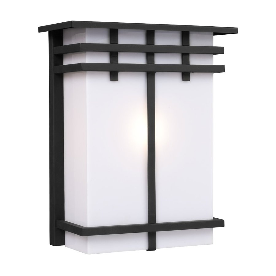 Galaxy 11.5-in H Black Outdoor Wall Light