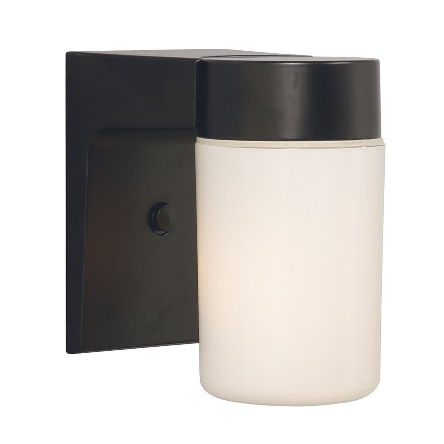 Galaxy 6.625-in H Black Outdoor Wall Light