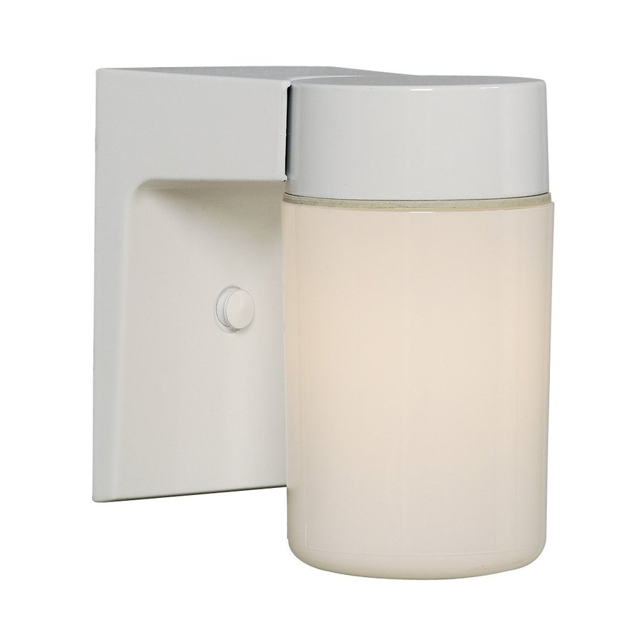 Galaxy 6.625-in H White Outdoor Wall Light